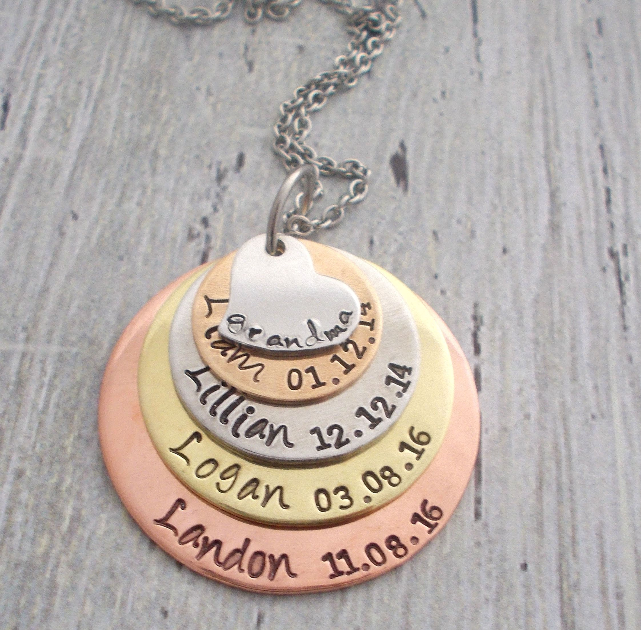 personalized grandma necklace personalized mom necklace