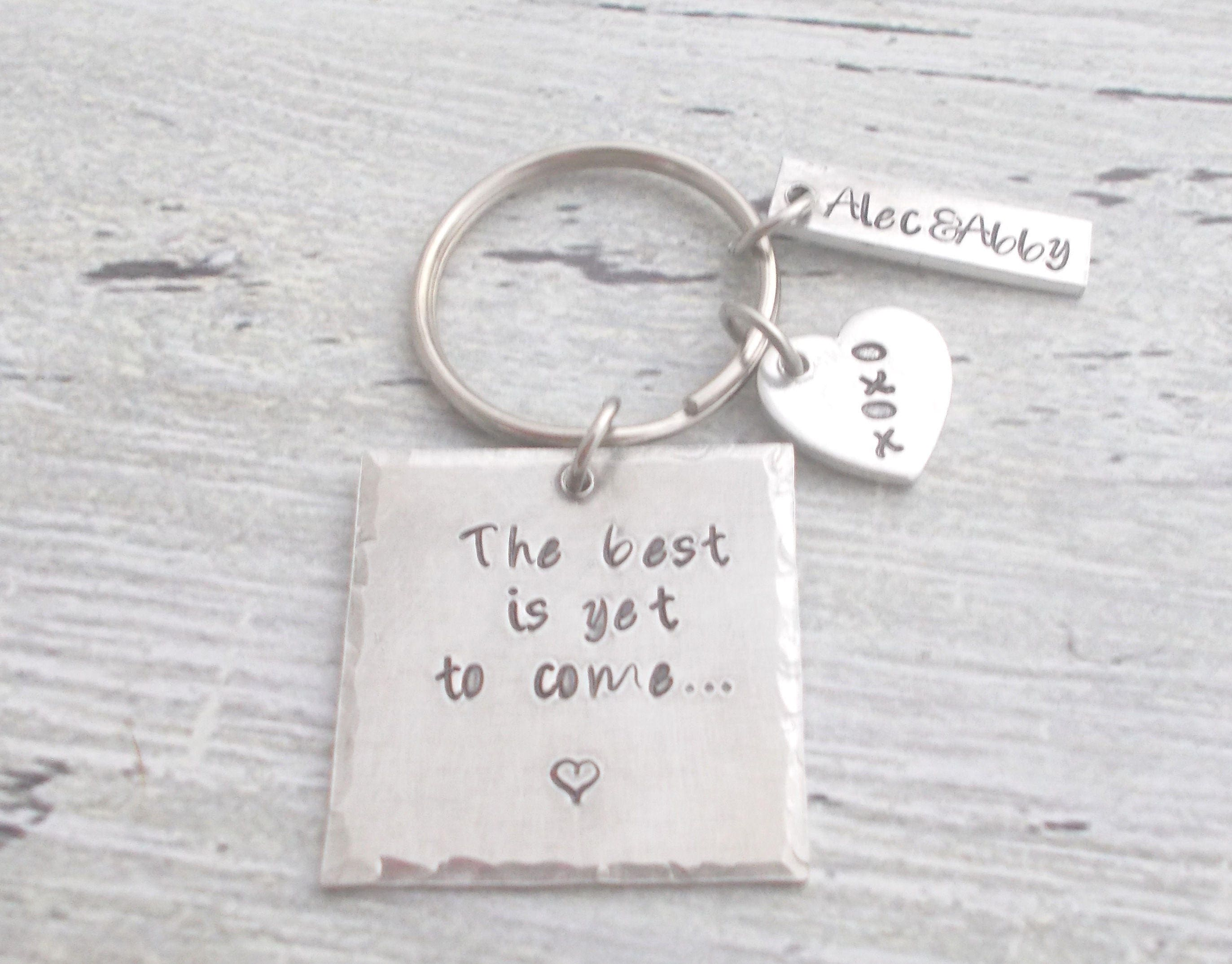 the best is yet to come couples keychain couples gift anniversary