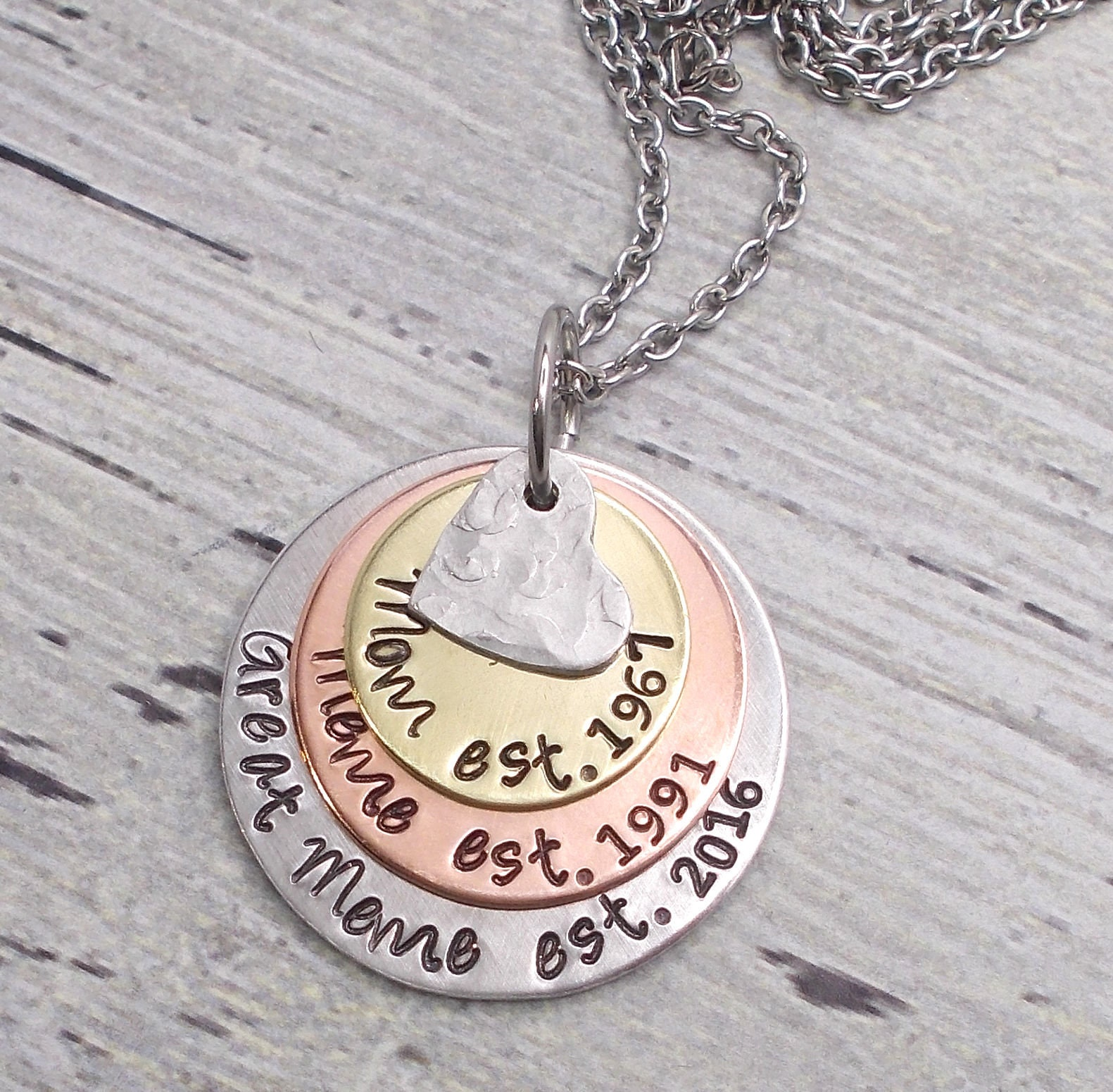 personalized milestone necklace mom necklace mother s day gift