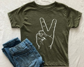 b2a10a4c37192 Peace / Two // Boy Shirt / Girl Shirt / Infant / Toddler / Unisex / Hippie  / Age Two