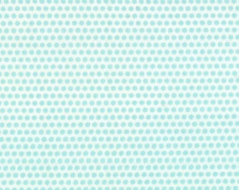 Happy Go Lucky Fat Quarter by Bonnie & Camille for Moda; Penny in Aqua and White; OOP, HTF