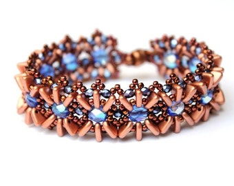 "DIY Kit Creativeset bracelet ""Amanda"" Bronze-Blue (No. 3)"