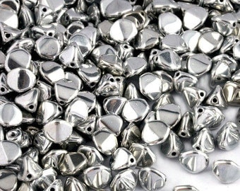 150 St. Aluminium silver Pinch bead 4 x 3 mm