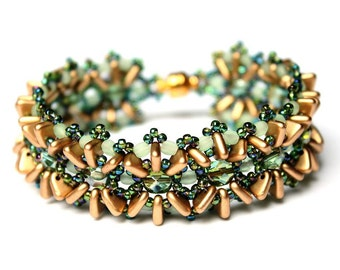 "DIY Kit Creativeset bracelet ""amanda"" gold-Green (No. 2)"