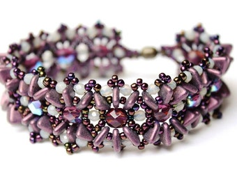 "DIY Kit Creativeset bracelet ""Amanda"" Purple (No. 4)"