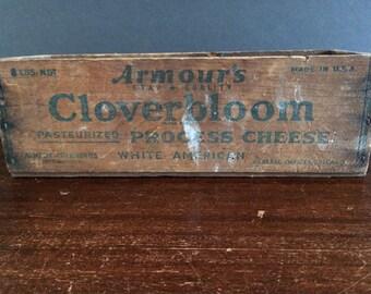 Vintage Cheese Box-CLOVERBLOOM