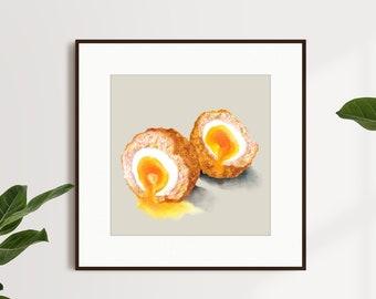 Scotch Egg Food Artwork Print