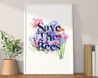 Save The Bees Artwork Print