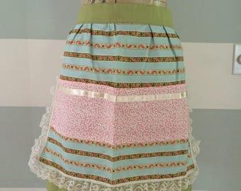 Ribbons and Lace - Tri-pocket Apron
