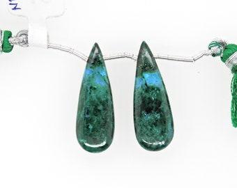 444-006 Pietersite Drops Almond Shape 31x11mm Drilled Beads Matching Pair