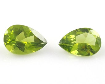 7e2fd0250 Peridot Pear Shape9x7mm Matched Pair Approx. 2.34 Carat, August  Birthstone,Beautiful Lime Green Color,Evening Emerald,Excellent Luster(4801)