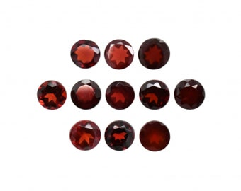 Red Garnet Round Shape 5mm Approximately 6 carat, January Birthstone, Deep Red Color Cinnamon Stone, Gooseberry Garnet, For Jewelry (2687)