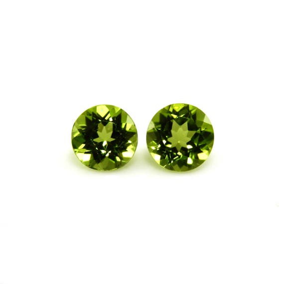 Excellent Luster Natural Peridot Round 4mm Approximately 7 Carat Beautiful Lime Green Color August Birthstone An Evening Emerald 2028