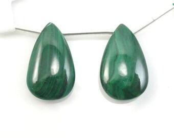 Malachite Matching Pair Almond Shaped  20X12MM Sale by Best Gems (5894)