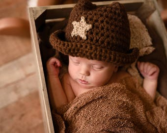 Baby Cowboy Hat - Toddler Cowboy Hat - Western Photo Prop - Cowboy Costume  - Cowgirl Hat - Woody Costume Hat - Infant Cowboy Hat eccacac0179