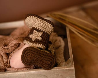 Baby Cowboy Boots - Infant Cowboy Boots - Baby Cowgirl Boots - Cowboy Photography Prop - Newborn Cowboy Boots - Cowboy Theme Gift