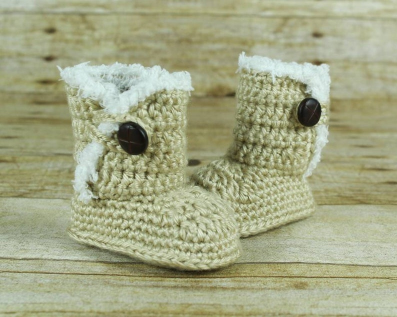 d09effe5845 Baby Girl Ugg Style Boots - Infant Boots - Baby Shoes -Baby Ugg Boots - Fur  Trim Baby Boots - Soft Baby Boots - Baby Gift - Boots Baby Girl