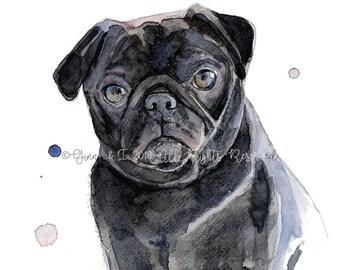 Pet Portrait, Dog Portrait, Custom Pet, Pet Painting, Dog Painting, Dog Watercolor, Pet Watercolor, Animal Portrait, Dog Watercolour
