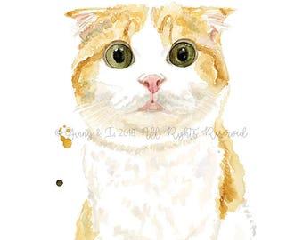 Cat Portrait, Custom Cat Painting, Pet Portrait, Cat Painting, Cat, Pet Painting, Animal Art, Animal Portrait, Watercolor, Art, Custom Pet