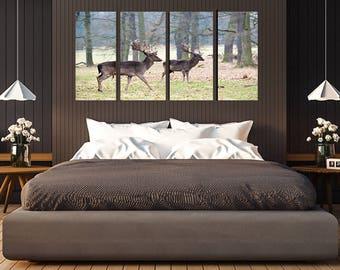Two Deer in the Field Wall Art