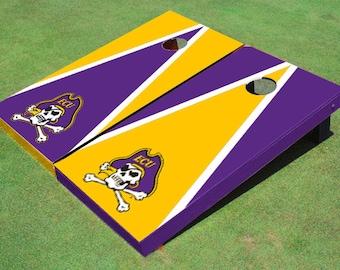 Eastern Carolina University Alternating Triangle Cornhole Boards