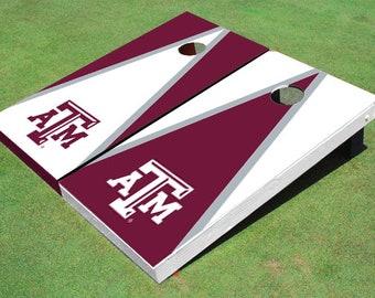Texas A&M Alternating Triangle Cornhole Boards
