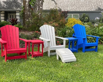 Free Shipping - Outdoor Adirondack Set Patio Backyard Beach Furniture