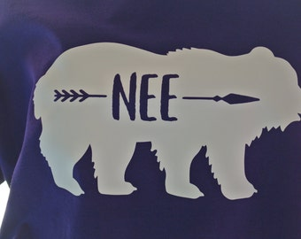 Nee tee, Nee Bear Shirt, Grandma tee