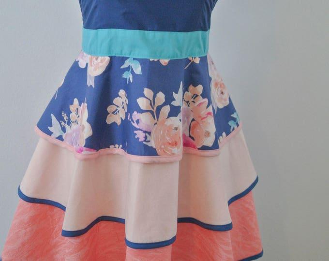 Featured listing image: Women's Apron,  Apron, Full Apron, Vintage Style Apron, Girly Apron, Apron for Women, Layered Apron, Ruffled Apron, Cute Apron, Feminine