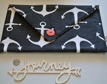 Sm Clutch | Art Supplies bag | Accessories pouch | makeup bag | Journal Holder | Pen Holder | Craft Pouch | Pouch | Notebook Holder Bag