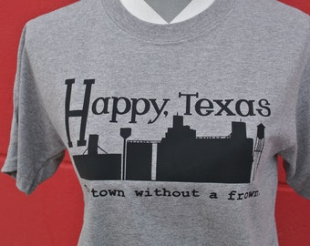 Texas shirt, Happy TX tee, Happy texas tshirt, town without a frown shirt