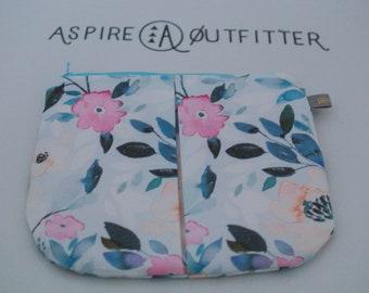 Pleated clutch | evening bag | makeup bag | travel case | Pen Case | Art Supplies Bag | Pen Holder | Pencil Case | Craft Pouch | Sm clutch