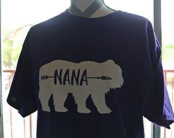 Nana tee, Nana Bear Shirt, Grandma tee