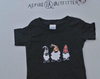 Gnomes toddler tee, Buffalo plaid holiday toddler tee, holiday tee, holiday gnome tee, Christmas shirt, holiday tee, gnome cheetah print