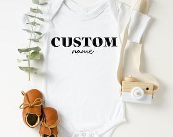 Baby Announcement Onesie, Custom Onesie, Custom Baby Name Onesie, Baby Shower Gift, Baby Announcement Bodysuit, Sweet Baby Onesie