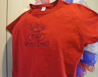 CLEARANCE: Cycling Tee - Women's Custom Embroidered and Embellished