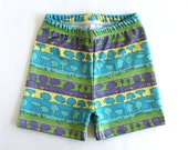 Toddler shorts with trees • ORGANIC kids shorts • Nature Baby shorts • Kids Surfer shorts • Pull-on shorts • Gender neutral summer clothes