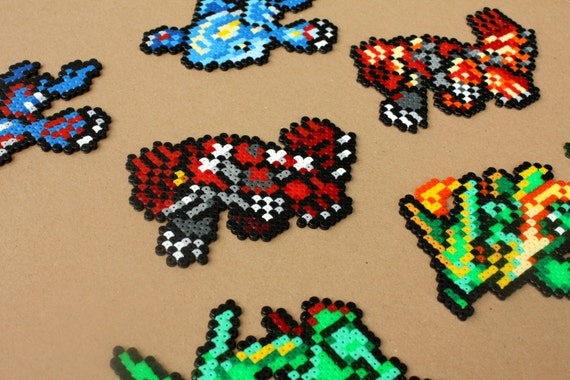 Pokemon Kyogre Groudon Rayquaza Primal Legendary Perler Beads Handmade Bead Sprite