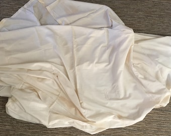 One flat French Antique bed sheet