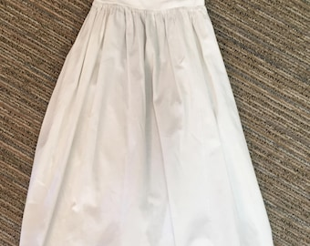 Adorable Child's Antique from France handmade French Smock Dress with Long Bow Embroidery