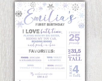 Birthday facts poster Flamingo stats poster Flamingo party