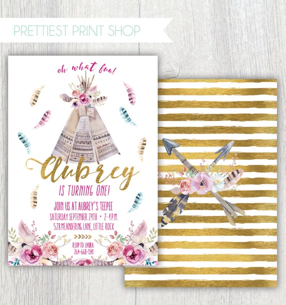 Set of 50 Birthday Baby Shower Wedding Party Favors Tribal Tee Pee Thank You Sticker Labels