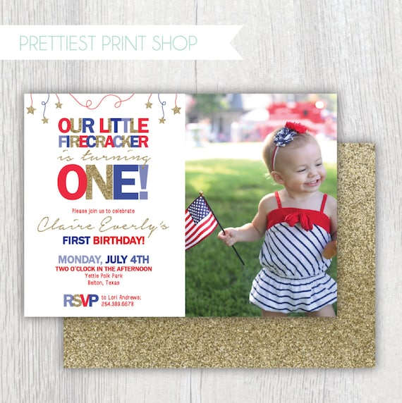 Printable 4th Of July Invitation With Photo