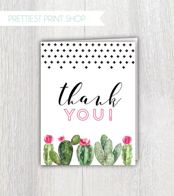 Wedding Shower Thank You Card