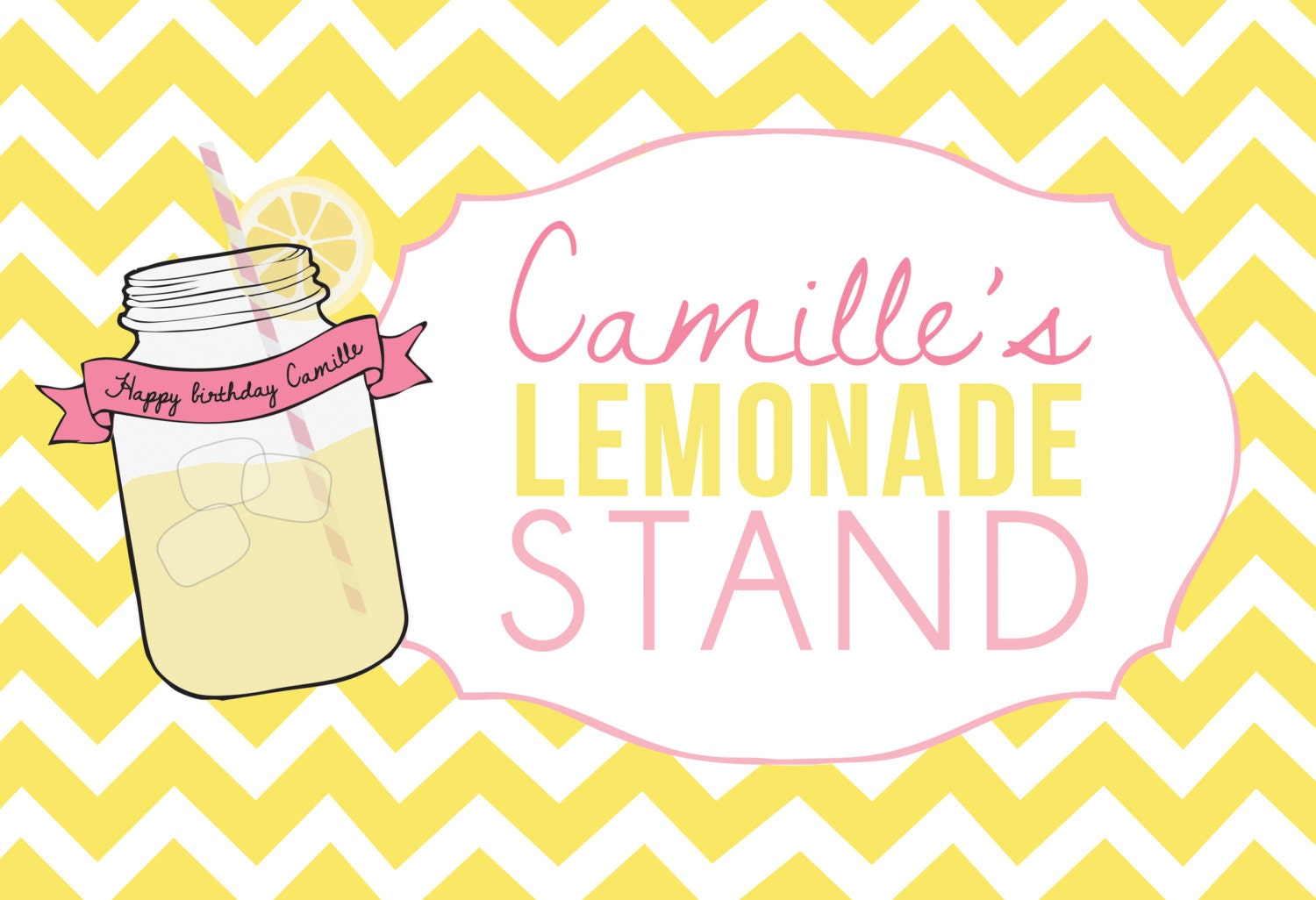 Printable party sign Sunshine and Lemonade party You are
