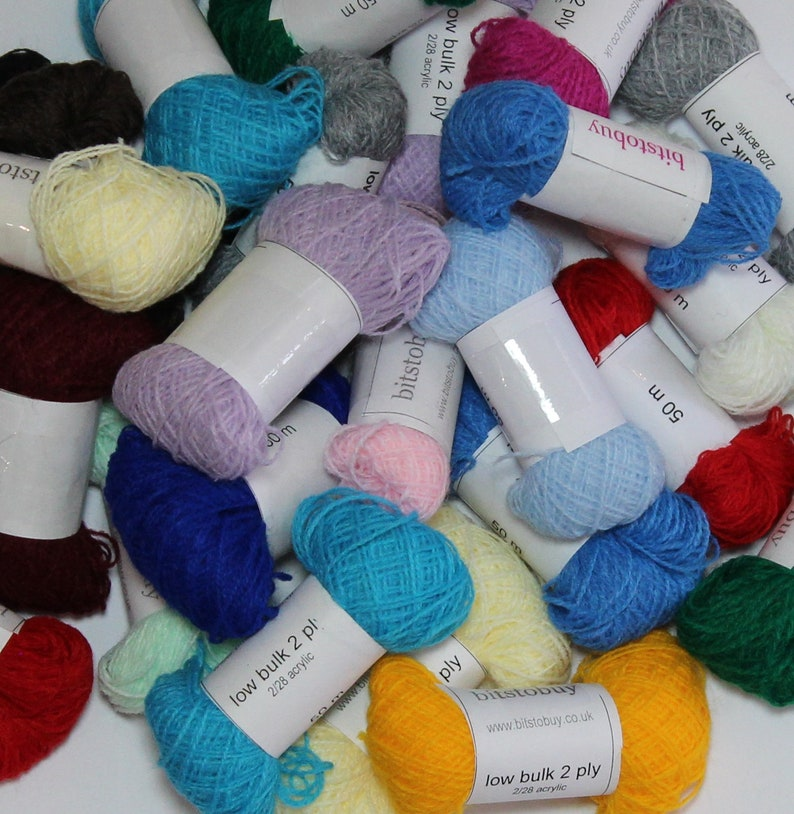 2-ply laceweight yarn for miniature knitting dolls image 0