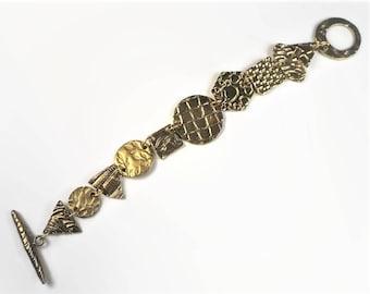 Everyday bracelet. Modernist bracelet. Brutalist jewelry. Chunky gold bracelet. Brutalist bracelet.
