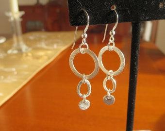 Thin hoops earrings. Gypsy hoop earrings. Small hoops. Tiny hoops.