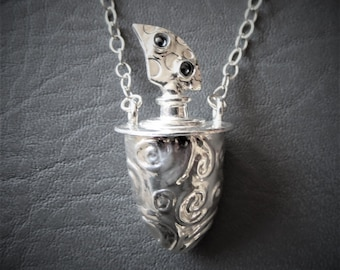 Anxiety awareness. Anxiety jewelry. Anxiety Necklace. Eternal flame pendant. Good luck charm.