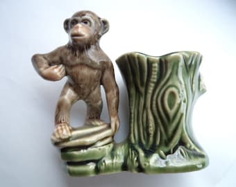 Vintage Wade Monkey Spill Vase